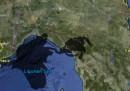 La chiazza nel Mar Ligure