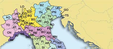 Cartina Italia Politica Con Tutte Province.E Le Province Il Post