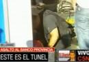 Il colpo da film in una banca di Buenos Aires