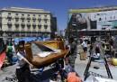 I dimostranti lasciano Puerta del Sol