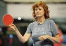 Susan Sarandon e il ping pong