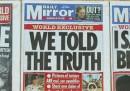 Le intercettazioni del Sunday Mirror