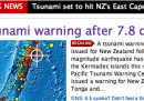 Rientrato l'allarme tsunami in Nuova Zelanda