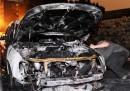 Le macchine bruciate in Germania