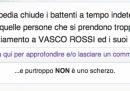 Vasco Rossi denuncia Nonciclopedia