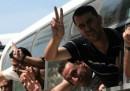 Le foto dei palestinesi liberati