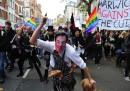 La protesta degli studenti a Londra