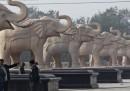 Le statue di Mayawati