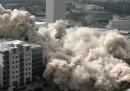 La demolizione del Prudential Building, a Houston