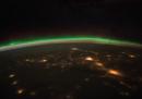 Aurora boreale sul Nord America e il Canada
