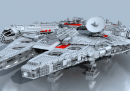 Il montaggio del Millennium Falcon di Lego, in 3 minuti, animato