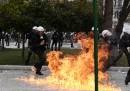 Le foto degli scontri in Grecia