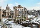 Le foto della neve a Roma