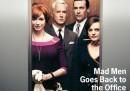 """La copertina """"vintage"""" di Newsweek dedicata alla nuova stagione di Mad Men"""