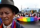 La marcia degli indigeni in Ecuador