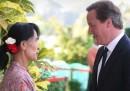 David Cameron in Birmania