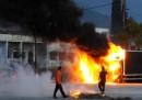 Gli scontri di ieri a Patrasso, in Grecia