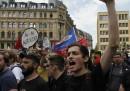 Le proteste di oggi a Francoforte