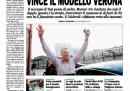La prima pagina della Padania di martedì