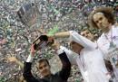 La festa per il sesto scudetto della Montepaschi Siena