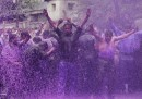 Le foto delle proteste (viola) in Kashmir