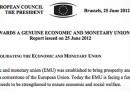 Il documento sul Consiglio europeo