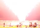 L'esplosione dei fuochi d'artificio di San Diego, da vicino