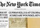 Le prime pagine negli Stati Uniti, oggi, sulla strage di Denver