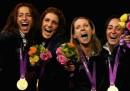 I festeggiamenti e la premiazione dell'Italia del fioretto