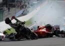 L'incidente che ha coinvolto Alonso e Hamilton al Gp di Spa, in Belgio