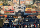 Lo Shuttle per le strade di Los Angeles, in time-lapse