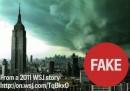 Foto vere e false dell'uragano Sandy