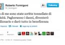 Formigoni si sfoga su Twitter