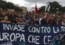 Le proteste di ieri contro Monti