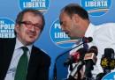 La conferenza stampa Formigoni-Alfano-Maroni