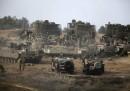 Esercito israeliano sul confine di Gaza