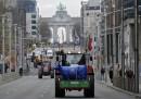 Bruxelles, protesta dei produttori di latte