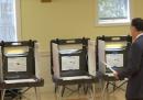 Le foto di Mitt e Ann Romney al seggio
