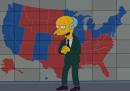 Il signor Burns dei Simpson vota per Mitt Romney