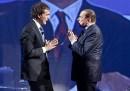 Berlusconi minaccia di lasciare il programma <i data-eio=