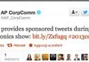AP vende pubblicità su Twitter