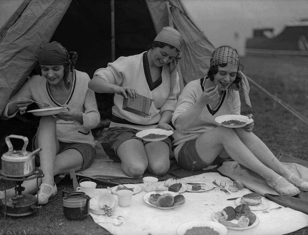 Colazione in campeggio