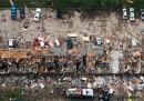 Le foto della fabbrica esplosa in Texas