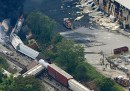 Le foto del treno esploso a Baltimora