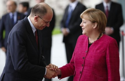Berlino, Angela Merkel incontra Enrico Letta