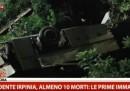 Molti morti nell'incidente di un pullman in Campania