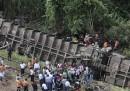 Il treno deragliato in Messico