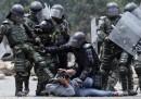 Le proteste degli agricoltori in Colombia