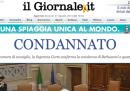La condanna di Berlusconi sui siti di news