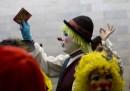 La protesta dei clown in Messico